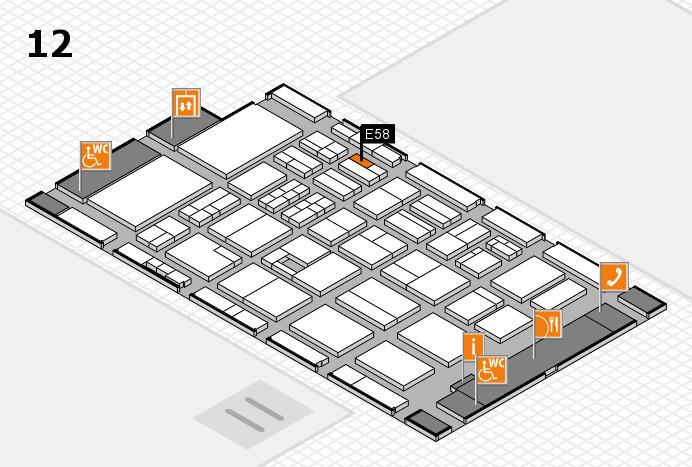 BEAUTY DÜSSELDORF 2017 Hallenplan (Halle 12): Stand E58