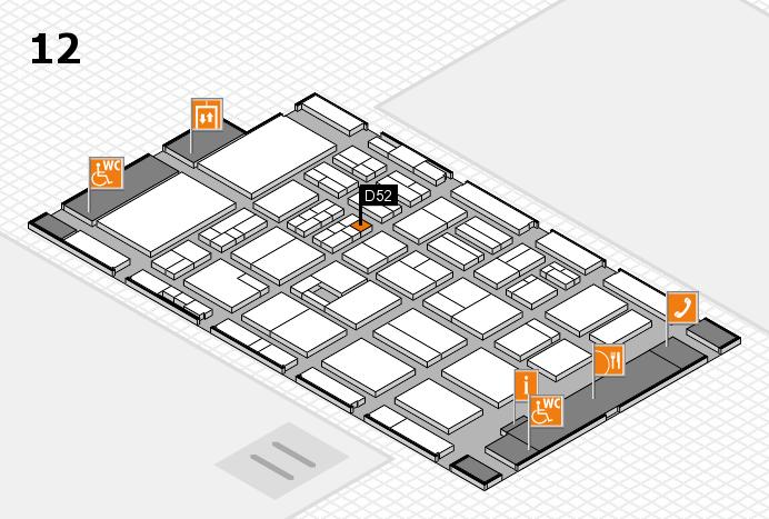 BEAUTY DÜSSELDORF 2017 Hallenplan (Halle 12): Stand D52