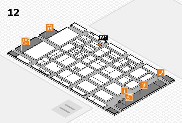 BEAUTY DÜSSELDORF 2017 hall map (Hall 12): stand E52