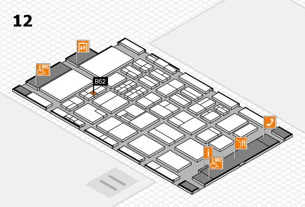 BEAUTY DÜSSELDORF 2017 hall map (Hall 12): stand B62