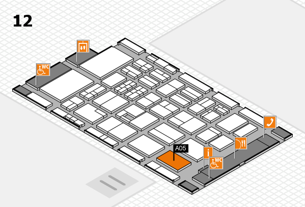 BEAUTY DÜSSELDORF 2017 hall map (Hall 12): stand A05