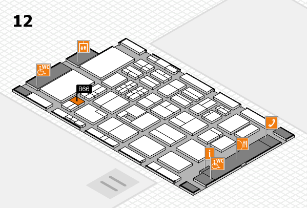 BEAUTY DÜSSELDORF 2017 hall map (Hall 12): stand B66