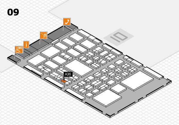BEAUTY DÜSSELDORF 2018 hall map (Hall 9): stand A36