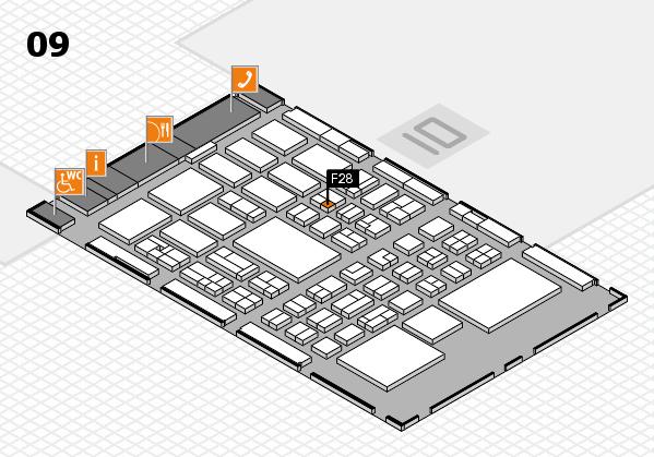 BEAUTY DÜSSELDORF 2018 hall map (Hall 9): stand F28