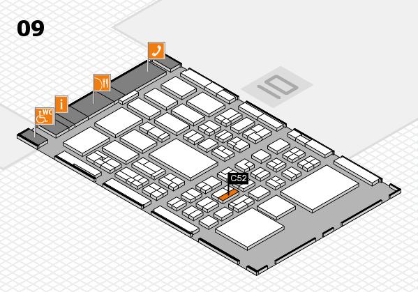 BEAUTY DÜSSELDORF 2018 hall map (Hall 9): stand C52