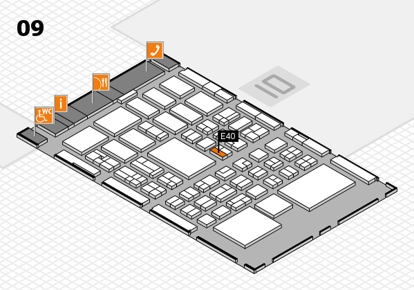 BEAUTY DÜSSELDORF 2018 hall map (Hall 9): stand E40