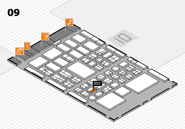 BEAUTY DÜSSELDORF 2018 hall map (Hall 9): stand B52