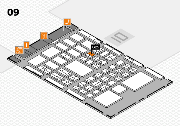 BEAUTY DÜSSELDORF 2018 hall map (Hall 9): stand G25