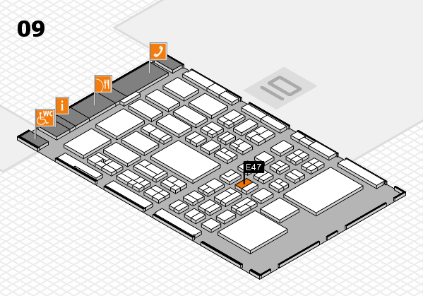BEAUTY DÜSSELDORF 2018 hall map (Hall 9): stand E47