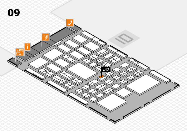 BEAUTY DÜSSELDORF 2018 hall map (Hall 9): stand E43