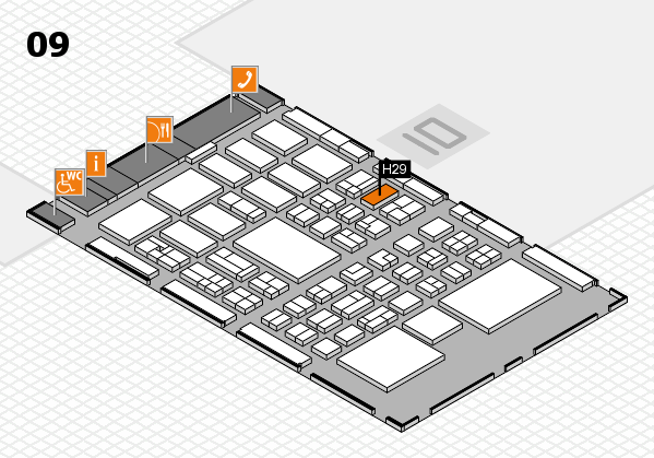 BEAUTY DÜSSELDORF 2018 hall map (Hall 9): stand H29