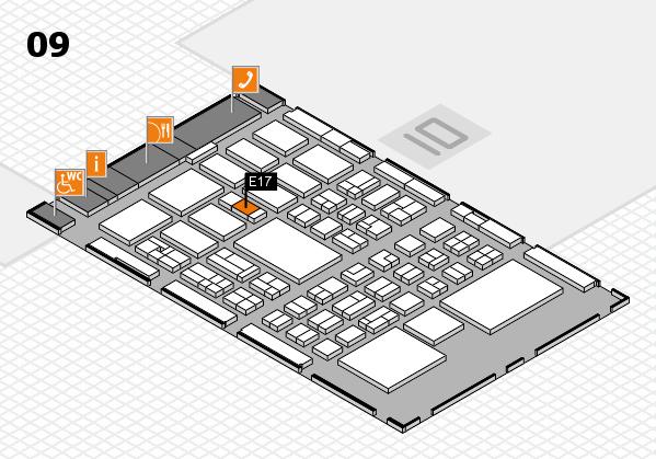 BEAUTY DÜSSELDORF 2018 hall map (Hall 9): stand E17