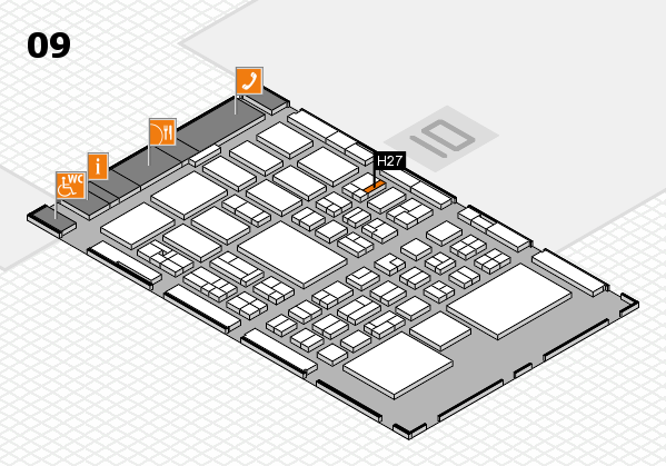 BEAUTY DÜSSELDORF 2018 hall map (Hall 9): stand H27