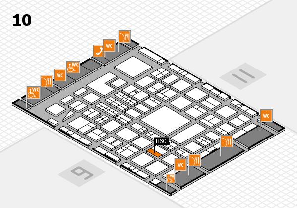BEAUTY DÜSSELDORF 2018 hall map (Hall 10): stand B60