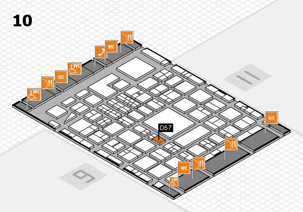 BEAUTY DÜSSELDORF 2018 hall map (Hall 10): stand D57