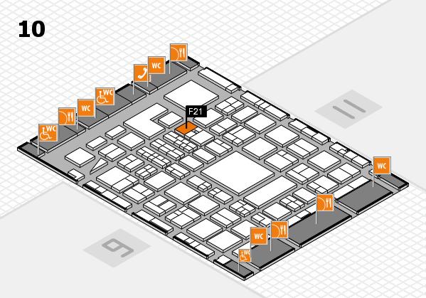 BEAUTY DÜSSELDORF 2018 hall map (Hall 10): stand F21