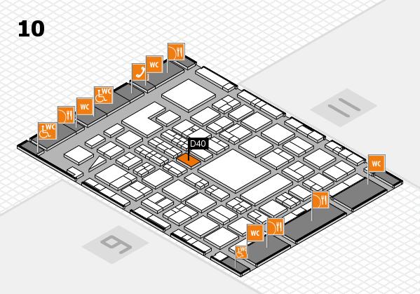 BEAUTY DÜSSELDORF 2018 hall map (Hall 10): stand D40