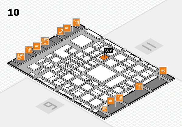 BEAUTY DÜSSELDORF 2018 hall map (Hall 10): stand G39