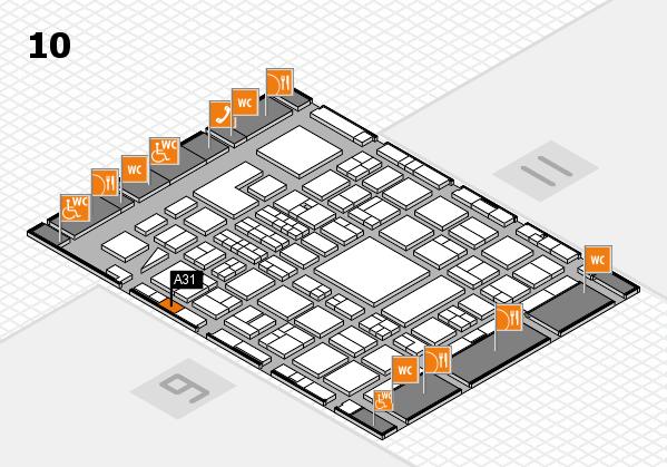 BEAUTY DÜSSELDORF 2018 hall map (Hall 10): stand A31