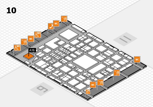 BEAUTY DÜSSELDORF 2018 hall map (Hall 10): stand A18