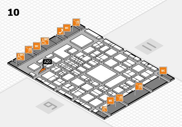 BEAUTY DÜSSELDORF 2018 hall map (Hall 10): stand A20
