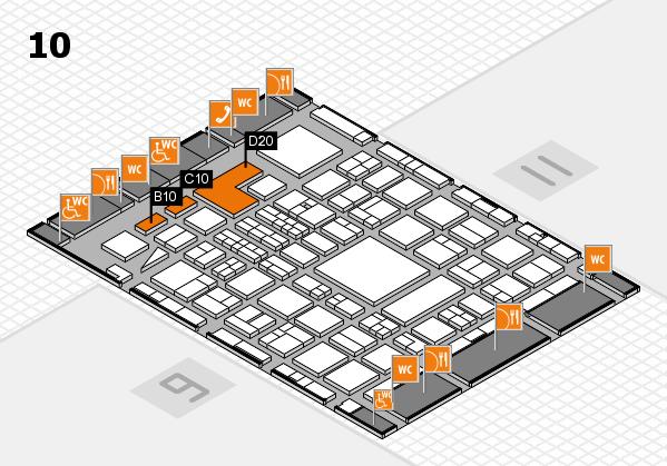 BEAUTY DÜSSELDORF 2018 hall map (Hall 10): stand B10, stand D20