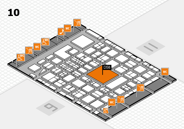 BEAUTY DÜSSELDORF 2018 hall map (Hall 10): stand D58