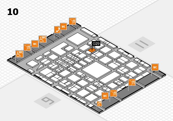 BEAUTY DÜSSELDORF 2018 hall map (Hall 10): stand G29