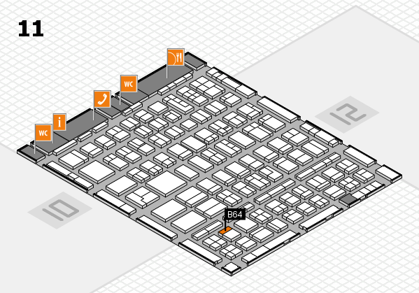 BEAUTY DÜSSELDORF 2018 hall map (Hall 11): stand B64