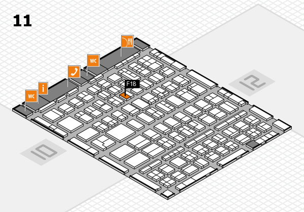 BEAUTY DÜSSELDORF 2018 hall map (Hall 11): stand F18