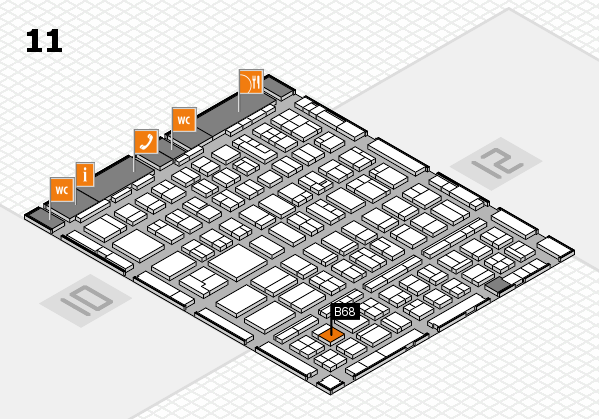 BEAUTY DÜSSELDORF 2018 hall map (Hall 11): stand B68