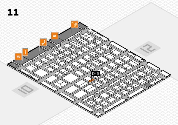 BEAUTY DÜSSELDORF 2018 hall map (Hall 11): stand D46