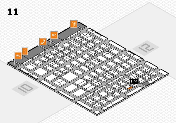 BEAUTY DÜSSELDORF 2018 hall map (Hall 11): stand F74