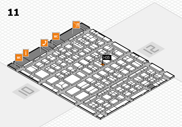 BEAUTY DÜSSELDORF 2018 hall map (Hall 11): stand H35