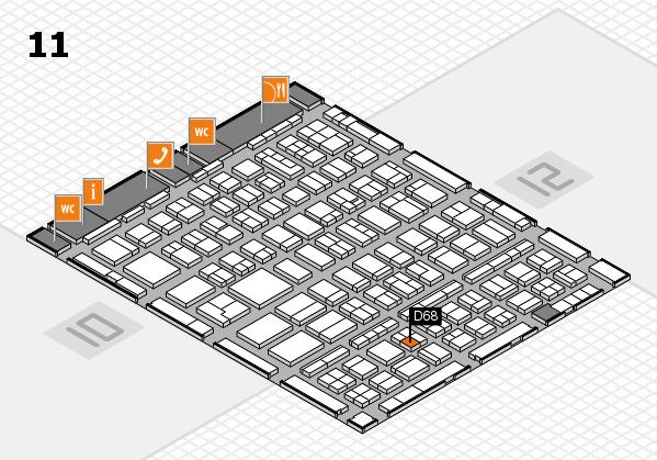 BEAUTY DÜSSELDORF 2018 hall map (Hall 11): stand D68