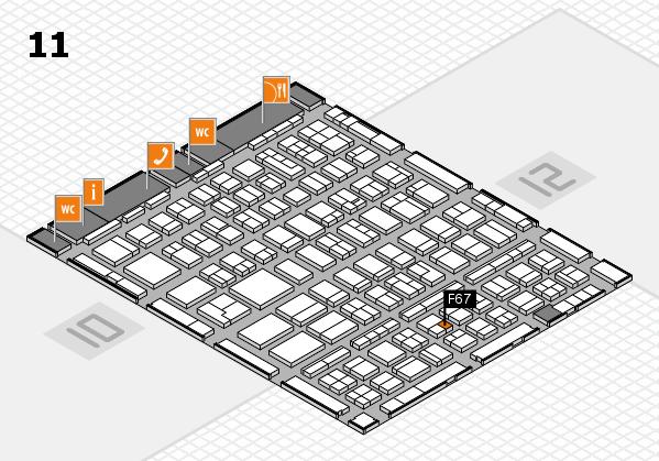 BEAUTY DÜSSELDORF 2018 hall map (Hall 11): stand F67