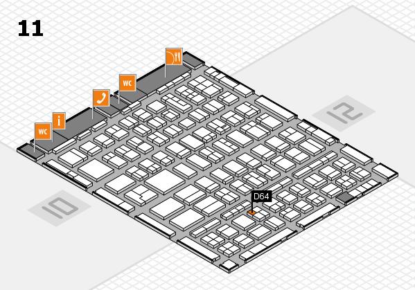 BEAUTY DÜSSELDORF 2018 hall map (Hall 11): stand D64