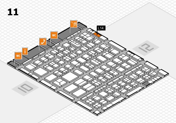 BEAUTY DÜSSELDORF 2018 hall map (Hall 11): stand L14