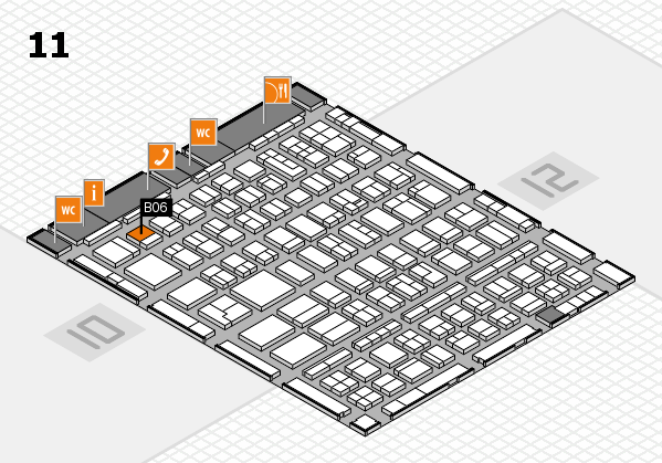 BEAUTY DÜSSELDORF 2018 hall map (Hall 11): stand B06