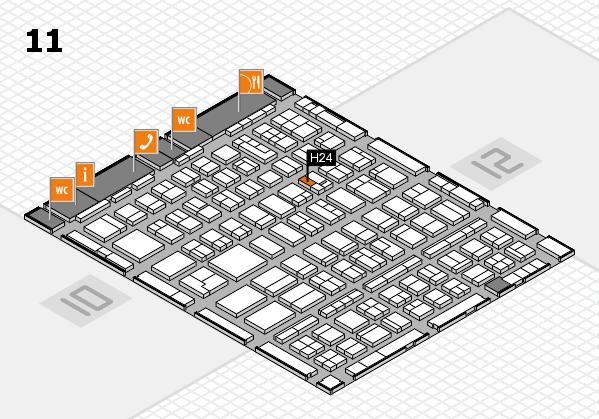 BEAUTY DÜSSELDORF 2018 hall map (Hall 11): stand H24
