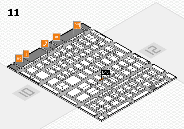 BEAUTY DÜSSELDORF 2018 hall map (Hall 11): stand E46