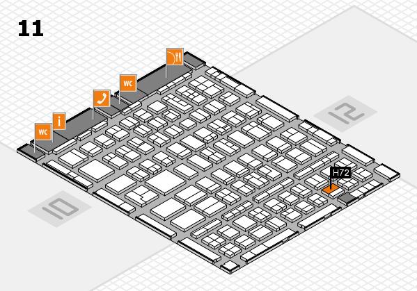 BEAUTY DÜSSELDORF 2018 hall map (Hall 11): stand H72