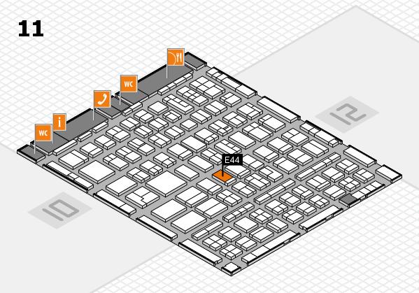 BEAUTY DÜSSELDORF 2018 hall map (Hall 11): stand E44