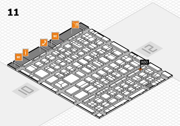 BEAUTY DÜSSELDORF 2018 hall map (Hall 11): stand K60