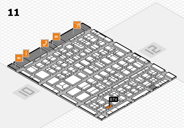 BEAUTY DÜSSELDORF 2018 hall map (Hall 11): stand B74