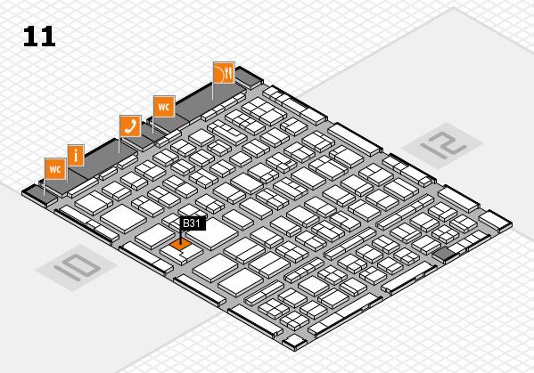 BEAUTY DÜSSELDORF 2018 hall map (Hall 11): stand B31