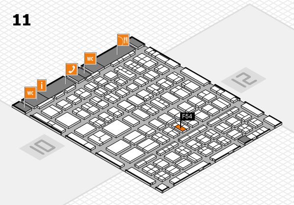 BEAUTY DÜSSELDORF 2018 hall map (Hall 11): stand F54