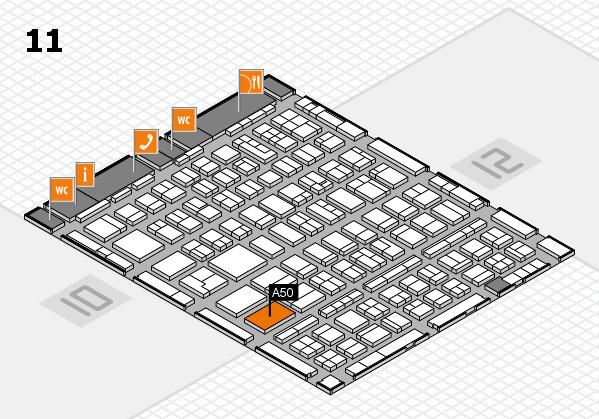 BEAUTY DÜSSELDORF 2018 hall map (Hall 11): stand A50