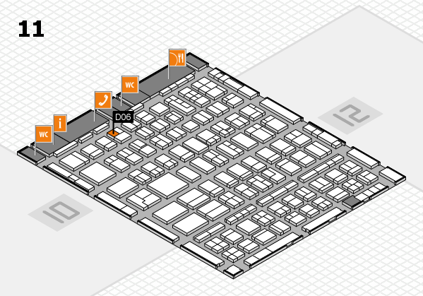 BEAUTY DÜSSELDORF 2018 hall map (Hall 11): stand D06