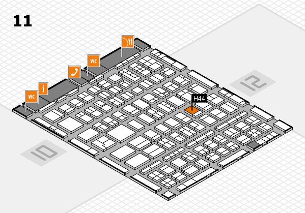 BEAUTY DÜSSELDORF 2018 hall map (Hall 11): stand H44